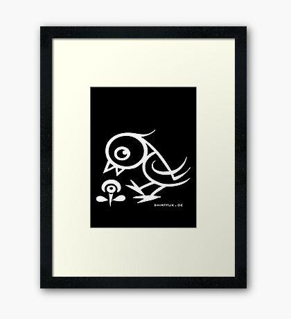 Bird - humor, fun, forest animals, flying Framed Print