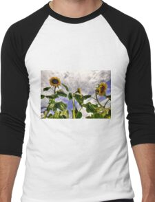 Sunflower Decay Men's Baseball ¾ T-Shirt