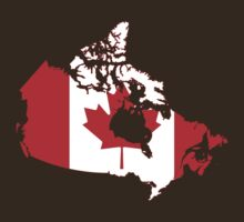 Canada Flag Map by cadellin