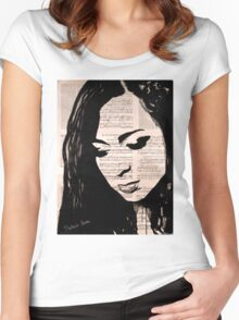 Love face Women's Fitted Scoop T-Shirt