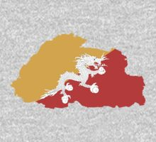 Bhutan Flag Map by cadellin