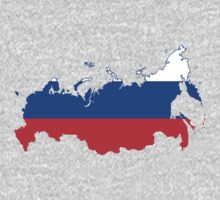 Russia Flag Map by cadellin