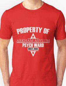 Arkham Asylum // Psych Ward Inmate Design // White Font T-Shirt