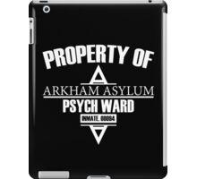 Arkham Asylum // Psych Ward Inmate Design // White Font iPad Case/Skin