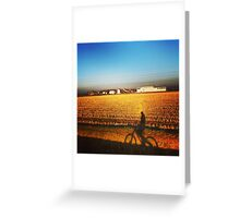 a ride in the countryside Greeting Card