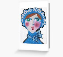 Bluebell in a Bonnet Greeting Card