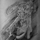 Race Horse study by Anne Guimond
