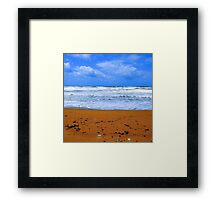 Land, sea and sky Framed Print