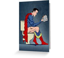 Superhero On Toilet Greeting Card