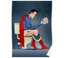 Superhero On Toilet Poster