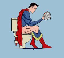 Superhero On Toilet Unisex T-Shirt