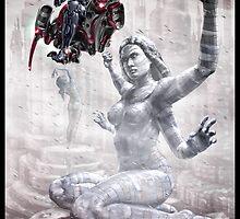 Cyberpunk Painting 012 by Ian Sokoliwski