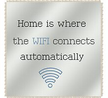 Cross Stitch Home Wifi by Kitty Bitty