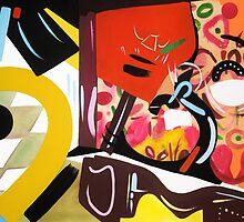 Abstract Interior by Lisa V Robinson