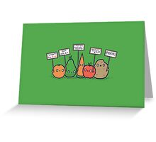 I hate vegans Greeting Card