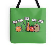 I hate vegans Tote Bag