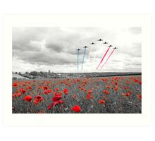 Red Arrows Tribute Selective Art Print