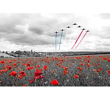 Red Arrows Tribute Selective Photographic Print