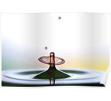 Fluidart water drop images Poster