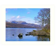 Coniston Water in Cumbria Art Print