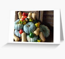 Pumpkins and peppers Greeting Card
