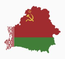 Belarus Flag Map by cadellin
