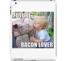 "Viral Meme of Little Boy Kissing Pig ""Future Bacon Lover"" Photograph iPad Case/Skin"