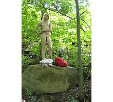 Jessica Stripping Photographic Print