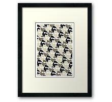 Wolf Wall - Mono Framed Print
