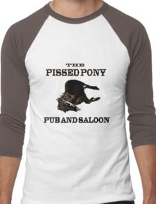 The Pissed Pony Pub and Saloon Men's Baseball ¾ T-Shirt
