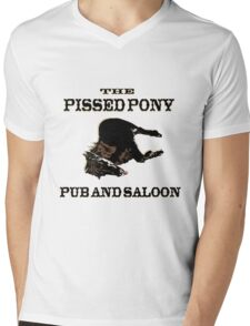 The Pissed Pony Pub and Saloon Mens V-Neck T-Shirt