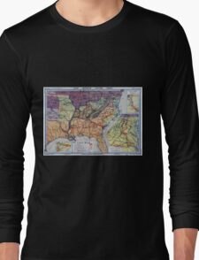 Civil War Maps 1960 Hart-Bolton American history maps Long Sleeve T-Shirt