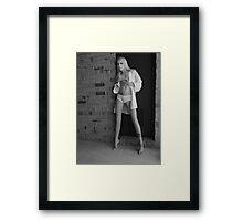 Jessica In White Panties I Framed Print