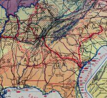 Civil War Maps 1960 Hart-Bolton American history maps Sticker