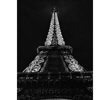 Eiffel Tower Starkly Photographic Print