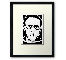Hannibal Lector Silence of the Lambs Anthony Hopkins Framed Print