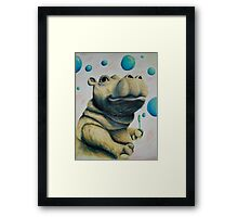 Hippo & Bubbles Framed Print