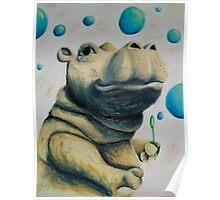 Hippo & Bubbles Poster