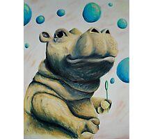 Hippo & Bubbles Photographic Print