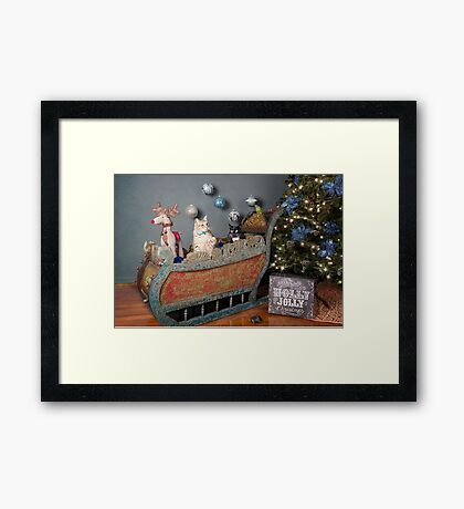 Who has a licence to drive this thing? Framed Print