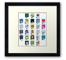Pixel Art Alphabet Framed Print