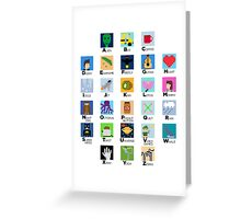 Pixel Art Alphabet Greeting Card