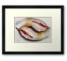Painting Hands Framed Print
