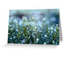 Fairy Drops Aqua Blue Greeting Card