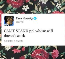 Ezra Koenig Tweet Wi-fi by sailxrmoon