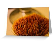 A man who likes to shave! Greeting Card