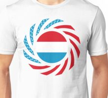 Luxembourg American Multinational Patriot Flag Series Unisex T-Shirt