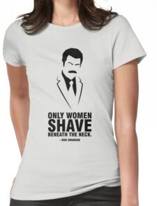 Ron Swanson - Parks & Recreation Womens Fitted T-Shirt