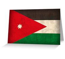 Jordan Flag Greeting Card