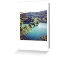 plitvice national park, croatia Greeting Card